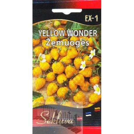 Meža zemene 'Yellow Wonder' 0,1 g